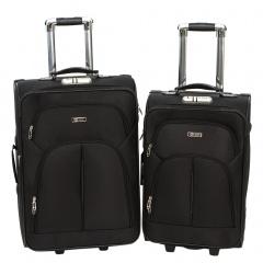 Комплект чемоданов 002-411/412-FM-BLK Francesco Molinary FMolinary Франческо Молинари FMolinari Molinari