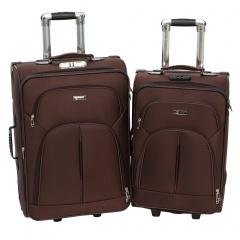 Комплект чемоданов 002-411/412-FM-BRW Francesco Molinary FMolinary Франческо Молинари FMolinari Molinari