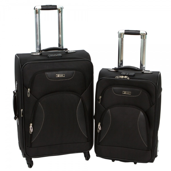 Комплект чемоданов 002-424/427-FM-BLK Francesco Molinary FMolinary Франческо Молинари FMolinari Molinari