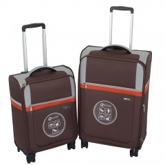 Комплект чемоданов 030-1381/2-BRW Francesco Molinary FMolinary Франческо Молинари FMolinari Molinari