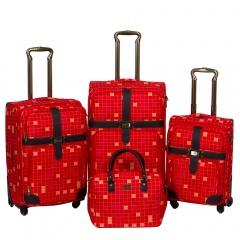 Комплект чемоданов 030-C10703B1-4-RED Francesco Molinary FMolinary Франческо Молинари FMolinari Molinari