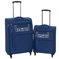 Комплект чемоданов 111-15048/2-BLU Francesco Molinary FMolinary Франческо Молинари FMolinari Molinari