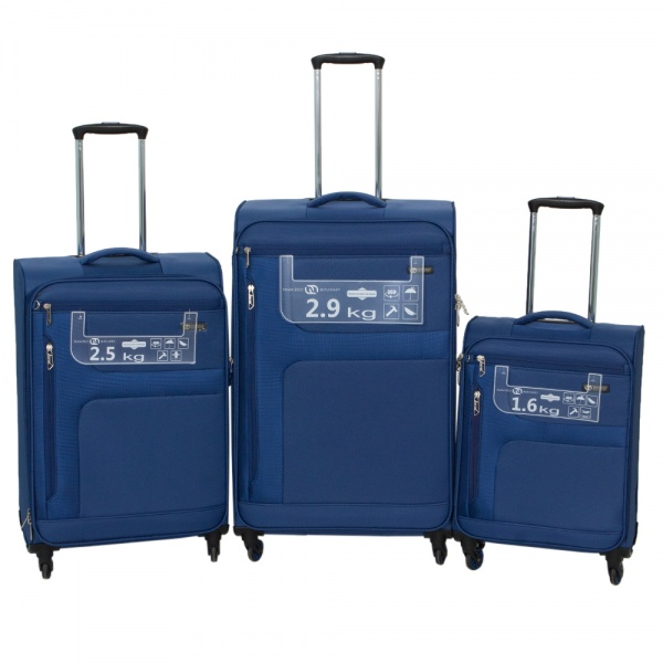 Комплект чемоданов 111-15048/3-BLU Francesco Molinary FMolinary Франческо Молинари FMolinari Molinari