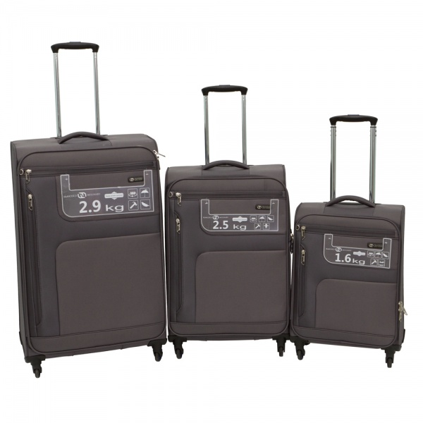 Комплект чемоданов 111-15048/3-GRY Francesco Molinary FMolinary Франческо Молинари FMolinari Molinari