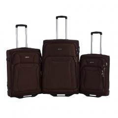 Комплект чемоданов 111-16033/3-BRW Francesco Molinary FMolinary Франческо Молинари FMolinari Molinari