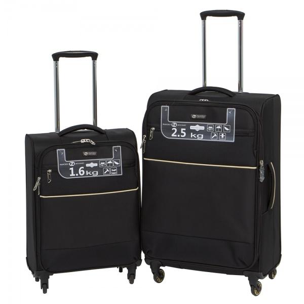 Комплект чемоданов 111-16043/2-BLK Francesco Molinary FMolinary Франческо Молинари FMolinari Molinari