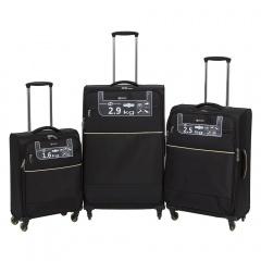 Комплект чемоданов 111-16043/3-BLK Francesco Molinary FMolinary Франческо Молинари FMolinari Molinari