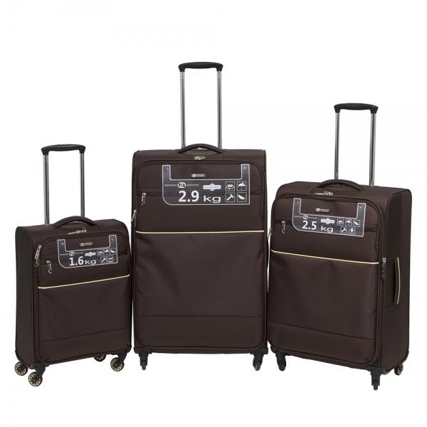 Комплект чемоданов 111-16043/3-BRW Francesco Molinary FMolinary Франческо Молинари FMolinari Molinari