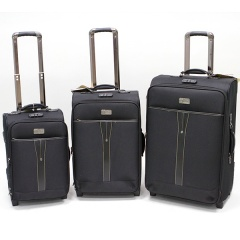 Комплект чемоданов 118-6005-3-BLK Francesco Molinary FMolinary Франческо Молинари FMolinari Molinari