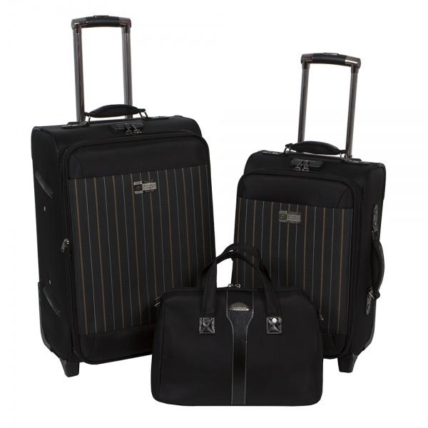 Комплект чемоданов 118-6052-3-BLK Francesco Molinary FMolinary Франческо Молинари FMolinari Molinari
