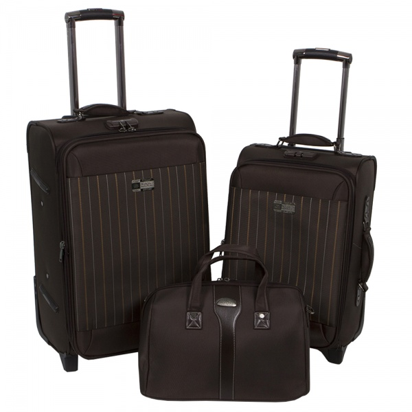 Комплект чемоданов 118-6052-3-BRW Francesco Molinary FMolinary Франческо Молинари FMolinari Molinari