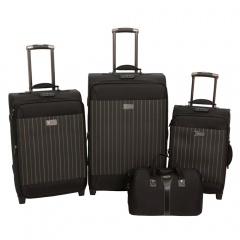 Комплект чемоданов 118-6052/4BLK Francesco Molinary FMolinary Франческо Молинари FMolinari Molinari
