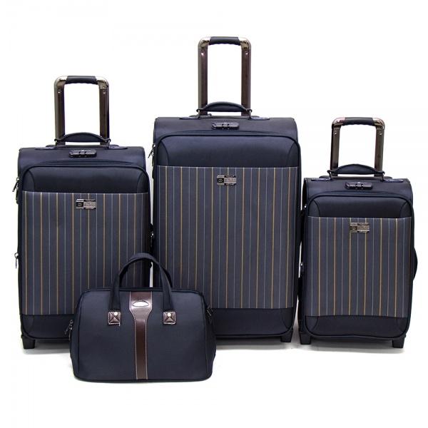 Комплект чемоданов 118-6052/4BLU Francesco Molinary FMolinary Франческо Молинари FMolinari Molinari