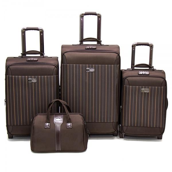 Комплект чемоданов 118-6052/4BRW Francesco Molinary FMolinary Франческо Молинари FMolinari Molinari