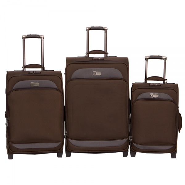 Комплект чемоданов 118-6080/3BRW Francesco Molinary FMolinary Франческо Молинари FMolinari Molinari