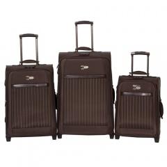 Комплект чемоданов 118-6096/3BRW Francesco Molinary FMolinary Франческо Молинари FMolinari Molinari