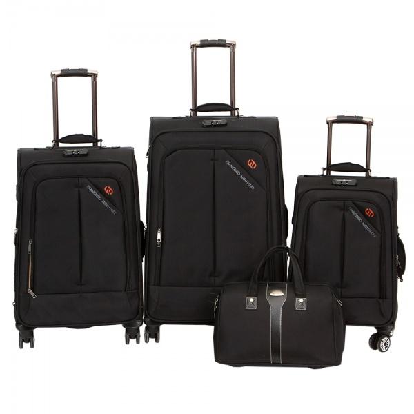 Комплект чемоданов 118-8013-4-BLK Francesco Molinary FMolinary Франческо Молинари FMolinari Molinari