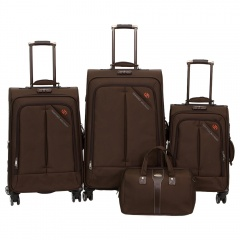 Комплект чемоданов 118-8013-4-BRW Francesco Molinary FMolinary Франческо Молинари FMolinari Molinari