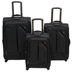 Комплект чемоданов 118-8013/3-BLK Francesco Molinary FMolinary Франческо Молинари FMolinari Molinari