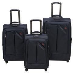 Комплект чемоданов 118-8013/3BLU Francesco Molinary FMolinary Франческо Молинари FMolinari Molinari