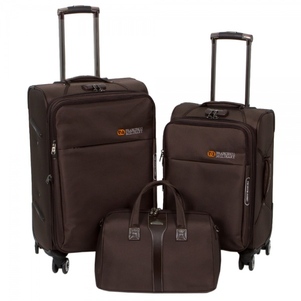 Комплект чемоданов 118-8059-3-BRW Francesco Molinary FMolinary Франческо Молинари FMolinari Molinari