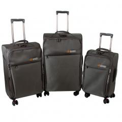 Комплект чемоданов 118-8059/3-GRY Francesco Molinary FMolinary Франческо Молинари FMolinari Molinari