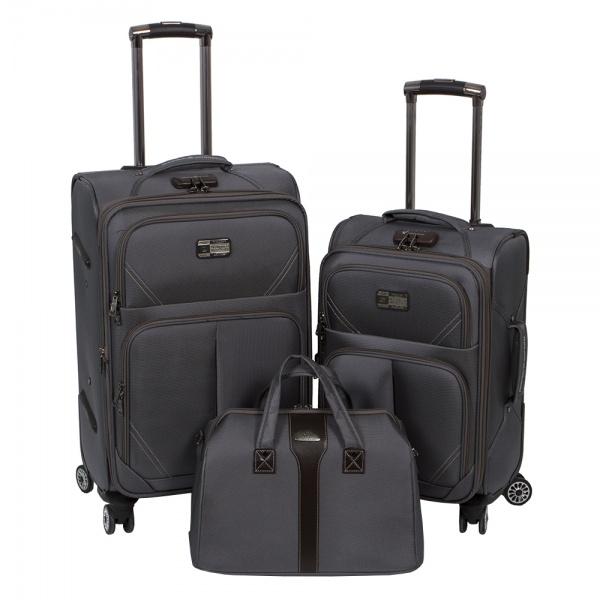Комплект чемоданов 118-9023-3-GRY Francesco Molinary FMolinary Франческо Молинари FMolinari Molinari