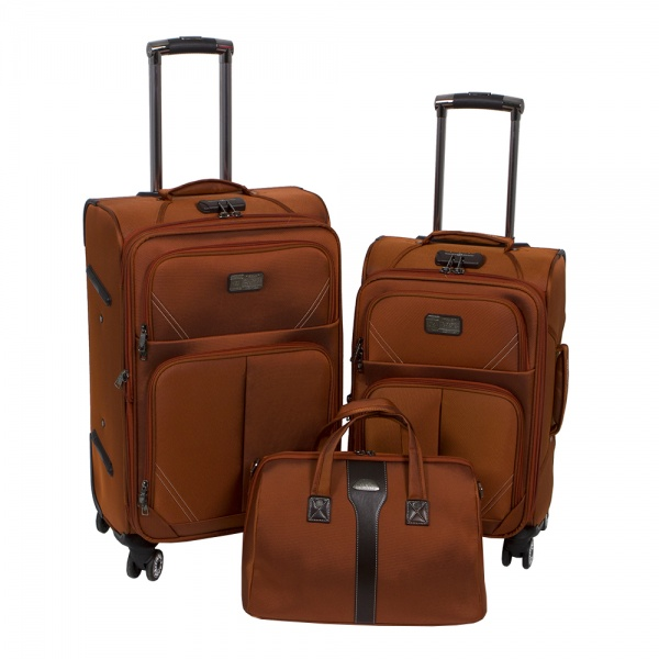 Комплект чемоданов 118-9023-3-ORN Francesco Molinary FMolinary Франческо Молинари FMolinari Molinari