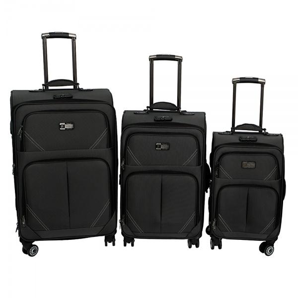 Комплект чемоданов 118-9023/3-BLK Francesco Molinary FMolinary Франческо Молинари FMolinari Molinari