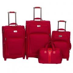 Комплект чемоданов 118-9025/4-RED Francesco Molinary FMolinary Франческо Молинари FMolinari Molinari