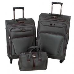 Комплект чемоданов 118-9025A/3-GRY Francesco Molinary FMolinary Франческо Молинари FMolinari Molinari
