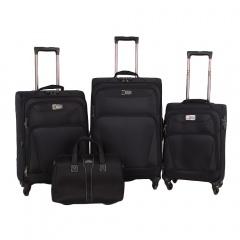 Комплект чемоданов 118-9025A/4-BLK Francesco Molinary FMolinary Франческо Молинари FMolinari Molinari