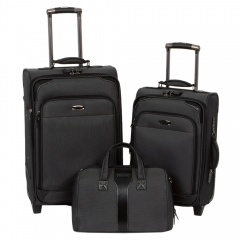 Комплект чемоданов 118-9027-3-BLK Francesco Molinary FMolinary Франческо Молинари FMolinari Molinari