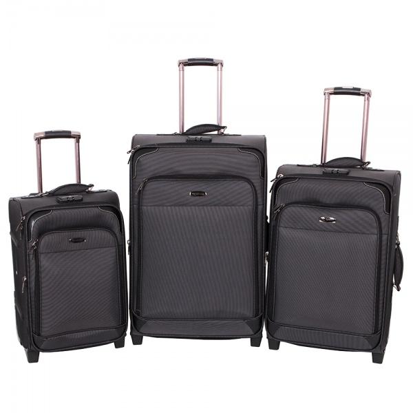 Комплект чемоданов 118-9027/3-BLK Francesco Molinary FMolinary Франческо Молинари FMolinari Molinari