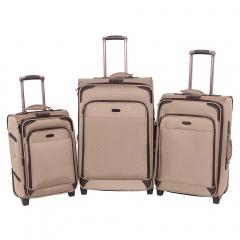 Комплект чемоданов 118-9027/3-YLW Francesco Molinary FMolinary Франческо Молинари FMolinari Molinari