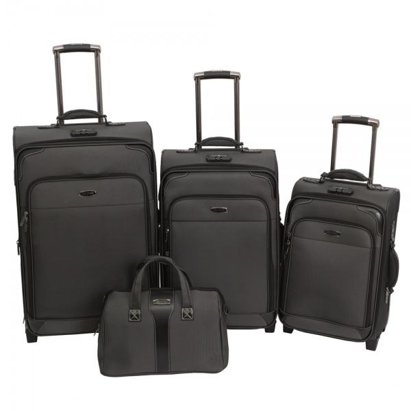 Комплект чемоданов 118-9027/4-BLK Francesco Molinary FMolinary Франческо Молинари FMolinari Molinari