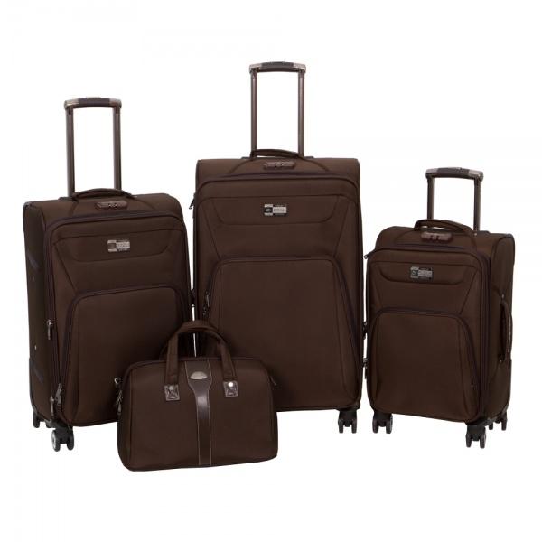 Комплект чемоданов 118-9033/4BRW Francesco Molinary FMolinary Франческо Молинари FMolinari Molinari