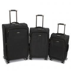 Комплект чемоданов 118-A-138/3-BLK Francesco Molinary FMolinary Франческо Молинари FMolinari Molinari