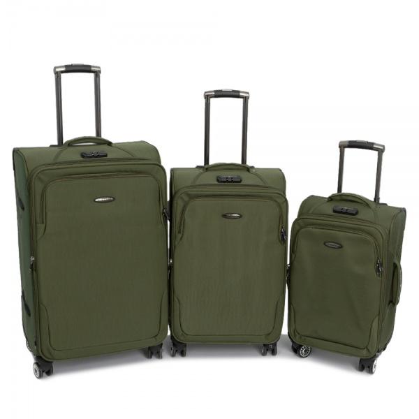 Комплект чемоданов 118-A-138/3-GRN Francesco Molinary FMolinary Франческо Молинари FMolinari Molinari