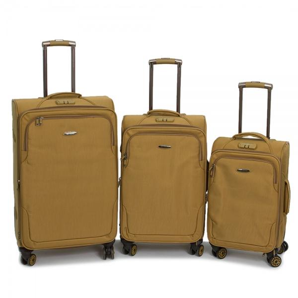 Комплект чемоданов 118-A-138/3-KHK Francesco Molinary FMolinary Франческо Молинари FMolinari Molinari