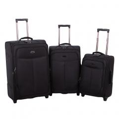 Комплект чемоданов 18-A-151-3-BLK Francesco Molinary FMolinary Франческо Молинари FMolinari Molinari