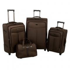 Комплект чемоданов 118-A-151/4-BRW Francesco Molinary FMolinary Франческо Молинари FMolinari Molinari