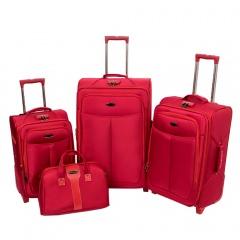 Комплект чемоданов 118-A-151/4-RED Francesco Molinary FMolinary Франческо Молинари FMolinari Molinari