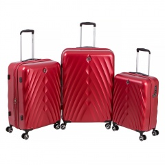 Комплект чемоданов 199-19124/3-RED Francesco Molinary FMolinary Франческо Молинари FMolinari Molinari