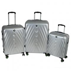Комплект чемоданов 199-19124/3-SLV Francesco Molinary FMolinary Франческо Молинари FMolinari Molinari