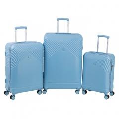 Комплект чемоданов 199-19151/3-BLU Francesco Molinary FMolinary Франческо Молинари FMolinari Molinari