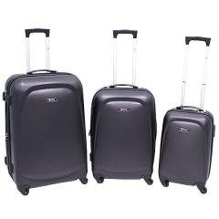 Комплект чемоданов 213-A-8045/3-BLK Francesco Molinary FMolinary Франческо Молинари FMolinari Molinari