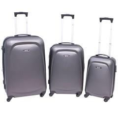 Комплект чемоданов 213-A-8045/3-GRY Francesco Molinary FMolinary Франческо Молинари FMolinari Molinari
