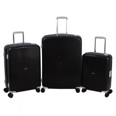 Комплект чемоданов 213-P7023/3-BLK Francesco Molinary FMolinary Франческо Молинари FMolinari Molinari