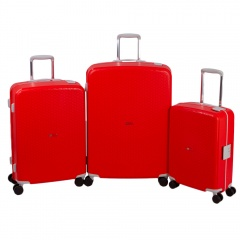 Комплект чемоданов 213-P7023/3-RED Francesco Molinary FMolinary Франческо Молинари FMolinari Molinari